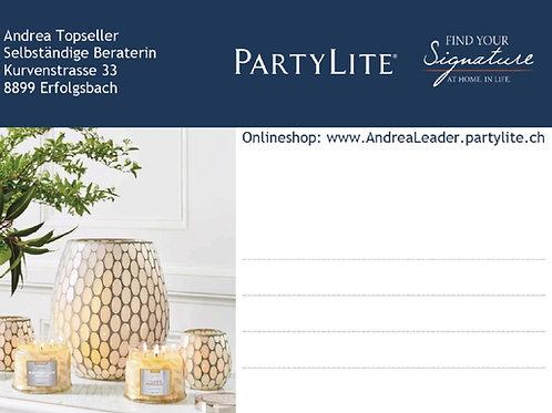 Paketadresse PartyLite, 250 Stück