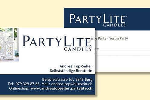 Visitenkarte PartyLite, 100 Stück