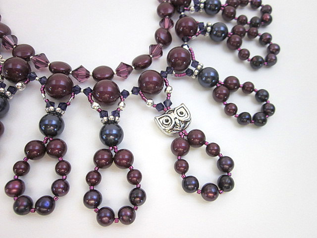 Blackberry pearl necklace