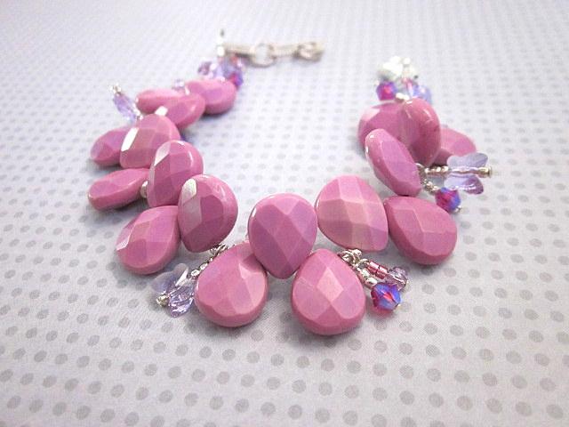 pink chalk turquoise bracelet