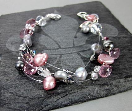 Pearl illusion bracelet