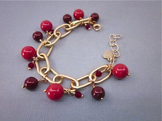 Red Swarovski pearl bracelet