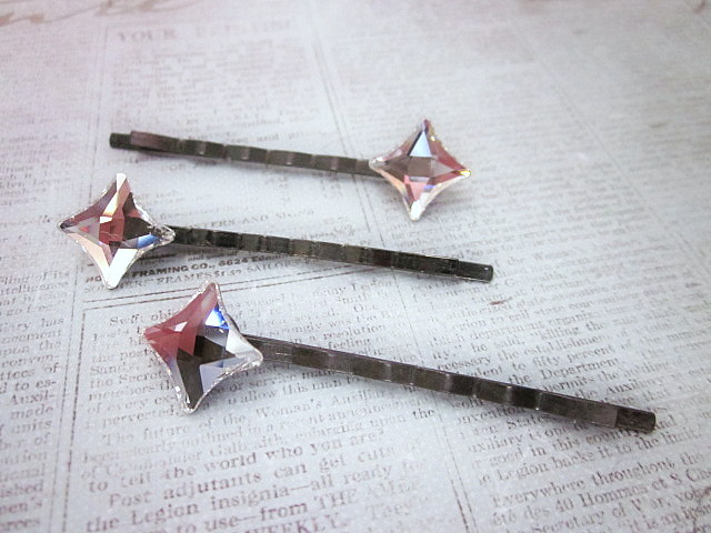 Swarovski clear starlet hair pins