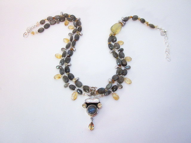 Labradorite & Citrine Necklace
