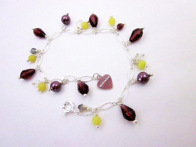 jade, pearl and crystal bracelet