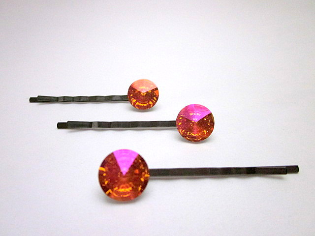 Swarovski Astral Pink hair pins