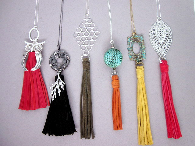 mixed tassel pendants