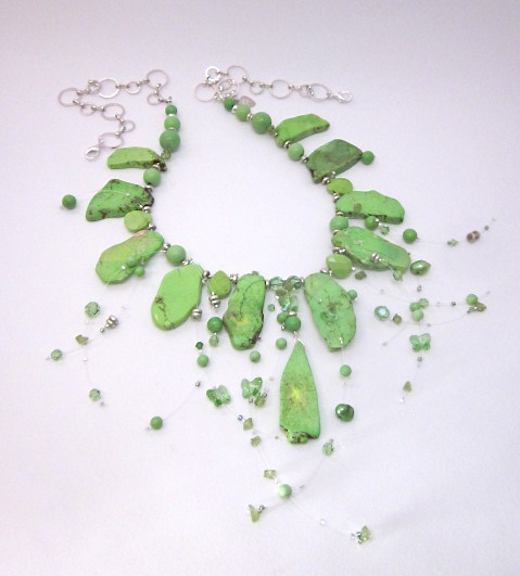 Lime Howlite Illusion Necklace