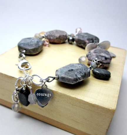 Grey marble gemstone bracelet