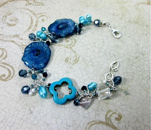 Blue stalactite bracelet