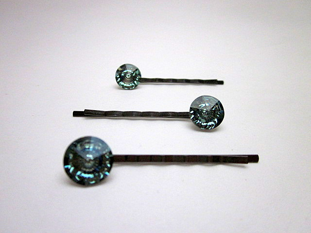 Swarovski Erinite hair pins