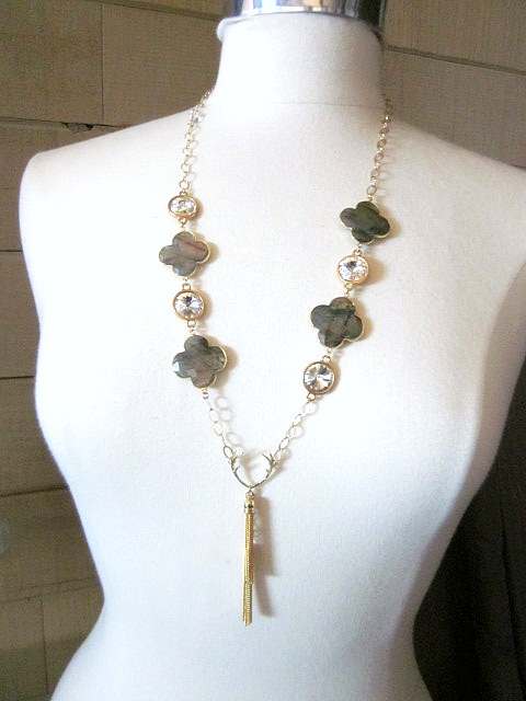 Labradorite & Crystal Necklace