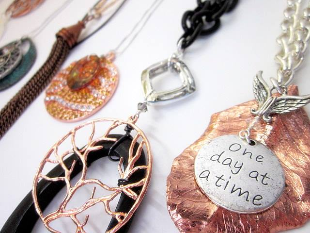 mixed metal pendants