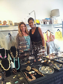 Handmade designer jewelry artists Kristin Krull and Robyne Robinson