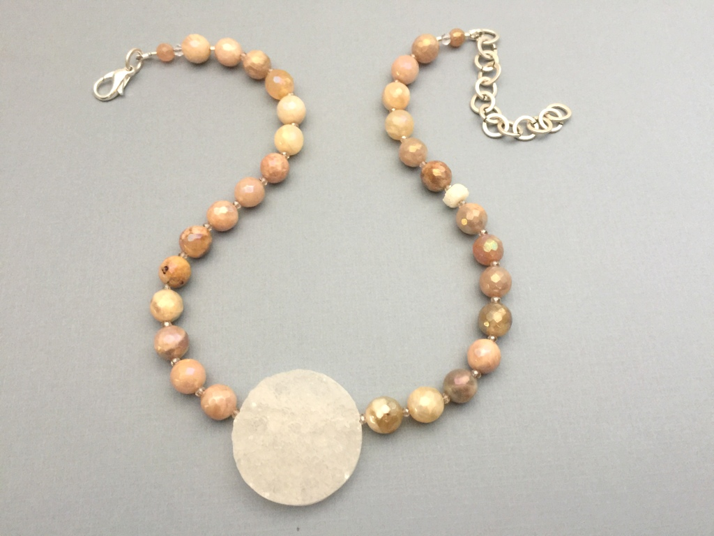 mystic moonstone single strand