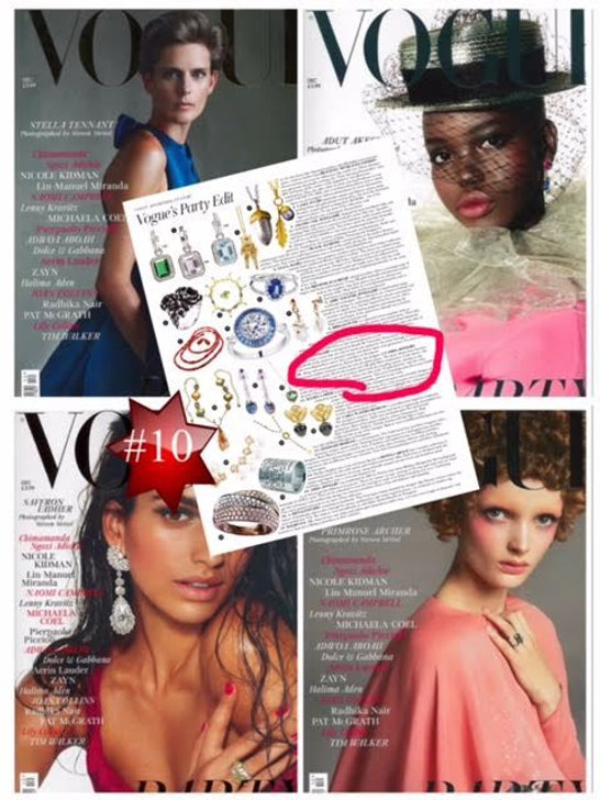 one of a kind jewelry in magazines, camba jewelry in vogue, vogue jewelry, vogue style
