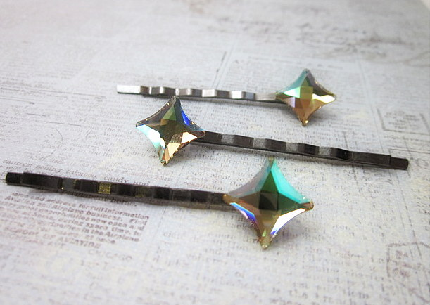 Swarovski Luminous starlet hair pins