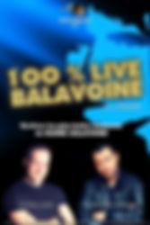 Affiche 100 % LIVE BALAVOINE TOUR 2019.j
