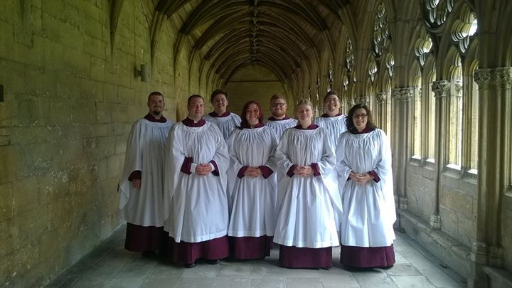 Schola before today's choral evensong.jp