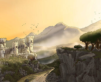 The Adventurs of Henry the Rabbit King. The Rabbit King's Castle in the Green Valley.