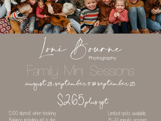 Red Deer Family Photography   Family Mini Sessions