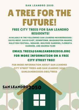San Leandro 2050 is Hosting a Free Tree Program!