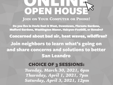 Online Open House, 3 sessions coming up!