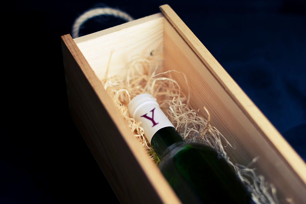 Nicely packaged wine, mostly like from a club member.