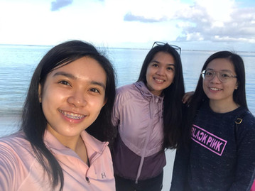 Beach clean-up along Tumon's beaches with Alyssa and Gladys