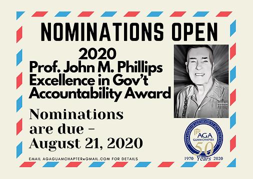 Professor John M. Phillips Award.png
