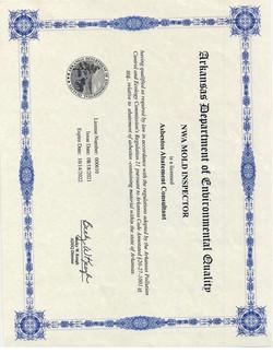 asbestos license 2021