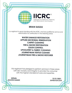 IICRC 2021 cert
