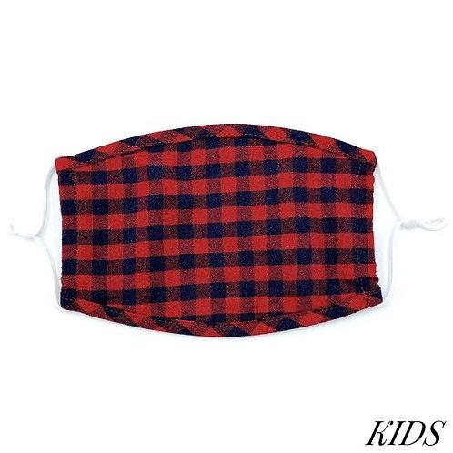 Kids checkered mask