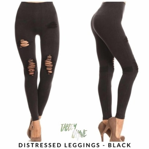 Distressed Leggings-various colors!