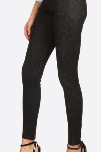 Black faded out skinny jeggings