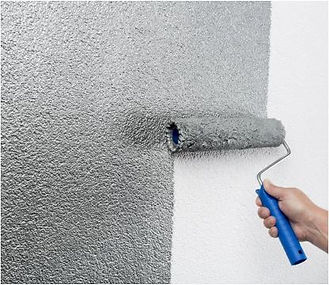 PolyChro Grey Color on Wall Painting.JPG