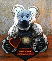 memory bear from love ones clothe's
