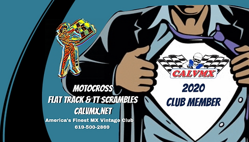 2020 CALVMX $65 Club Membership (Shirts must be picked up at races)