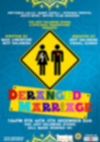 Deranged Marriage play written by Rick Limentani and Jeff Goldberg, poster