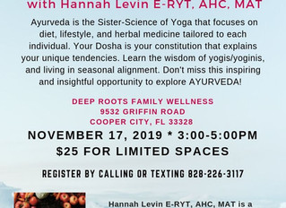 An Intro to Ayurveda with Hanna Levin E-YRT, AHC, MAT