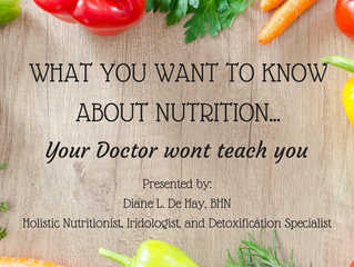 What you want to know about nutrition...