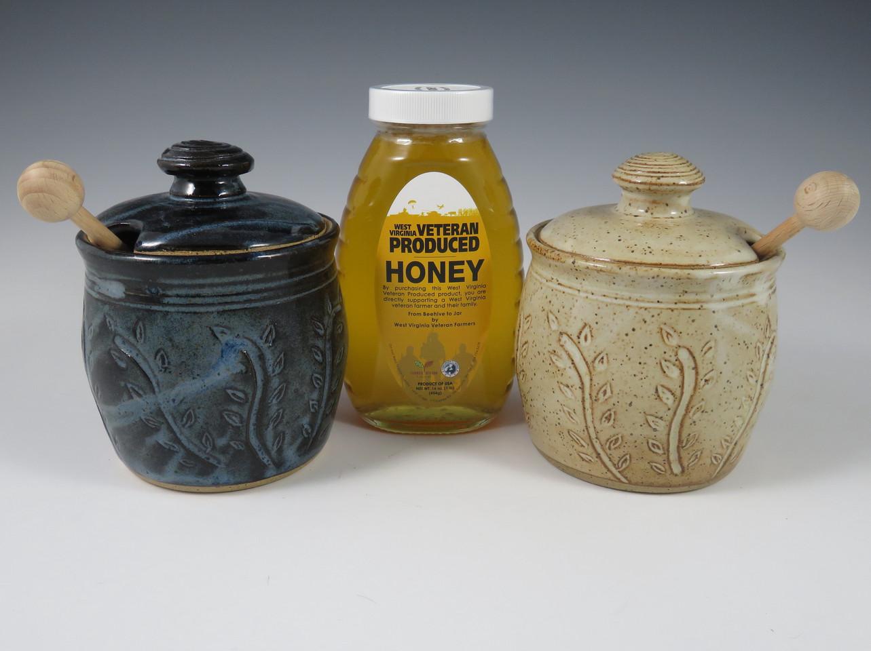 Honey Pots in Low Tide Blue & Vanilla