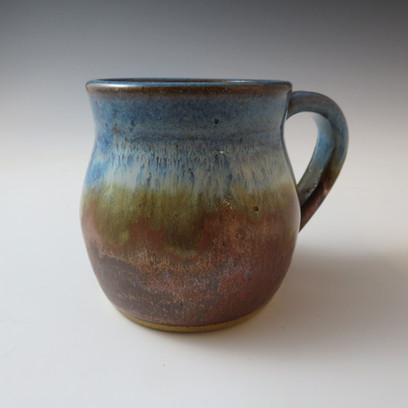 Mug in Anicent Copper & Rustic Bluw