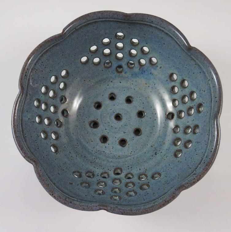 Fruit Bowl in Rustic Blue