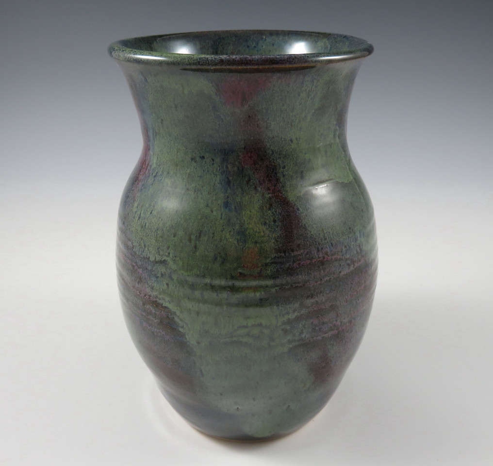 Vase in Green & Purple