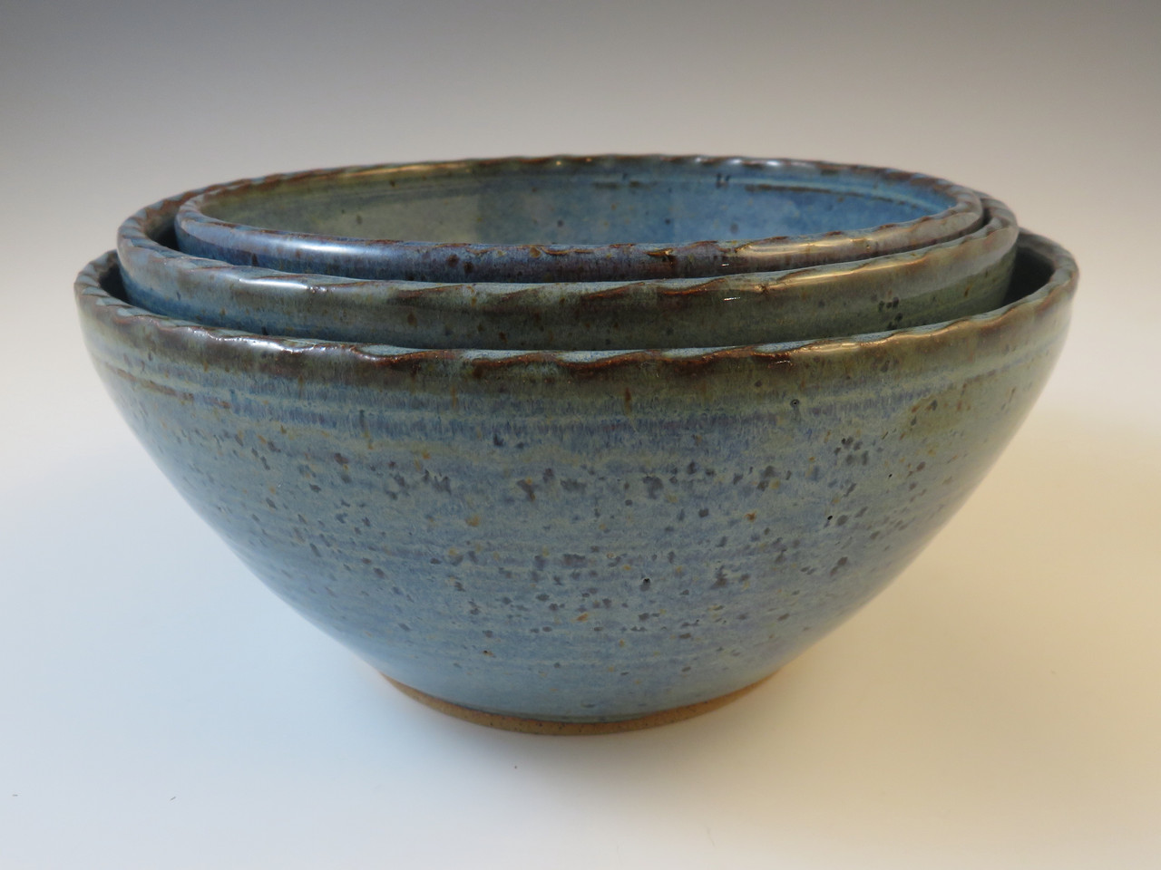 Serving Bowls in Rustic Blue
