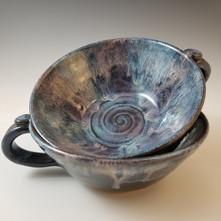 Soup Mug Set in Blues & Lavender