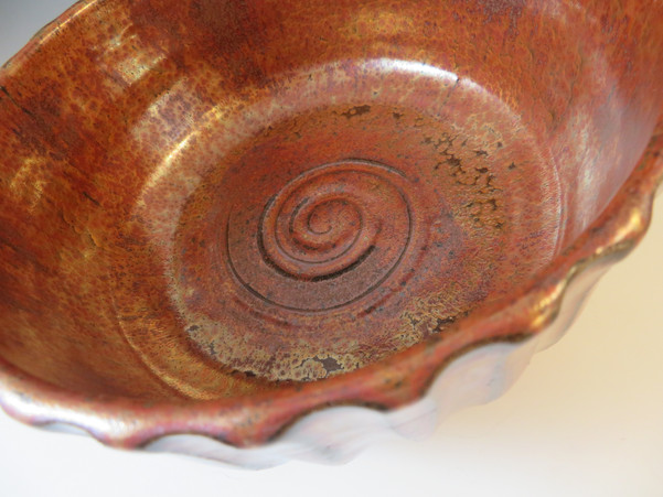 Fluted Bowl in Ancient Copper