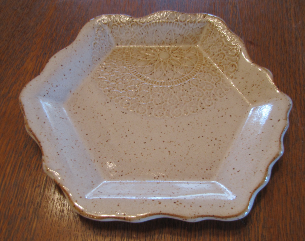 Small Tray with Lace Imprint