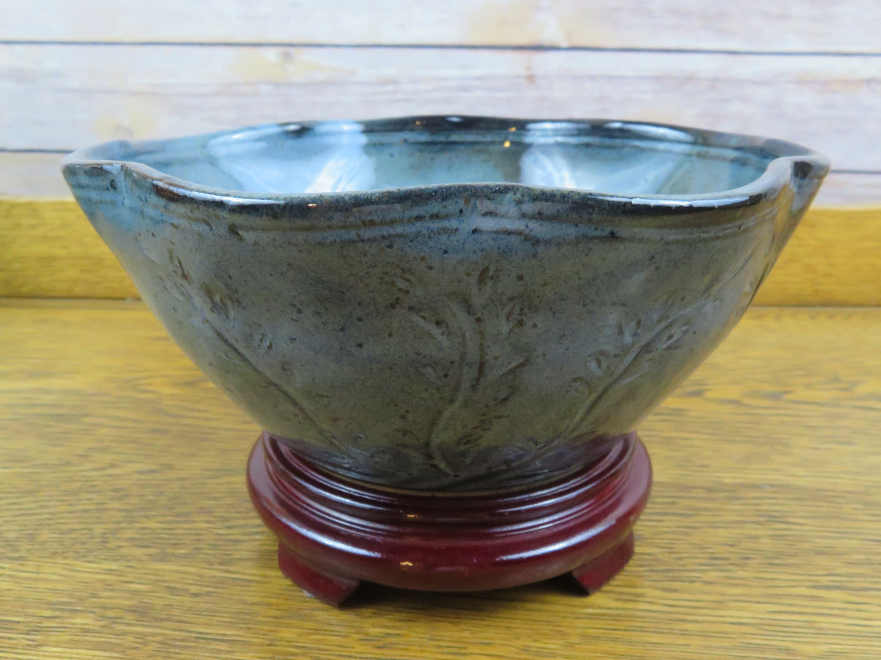 Serving Bowl in Rustic Blue